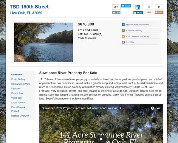 Suwannee141.com Single Property Website