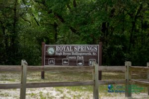 Royal Springs - Entry Sign. Hugh Byron Hollingsworth, Sr. Park.