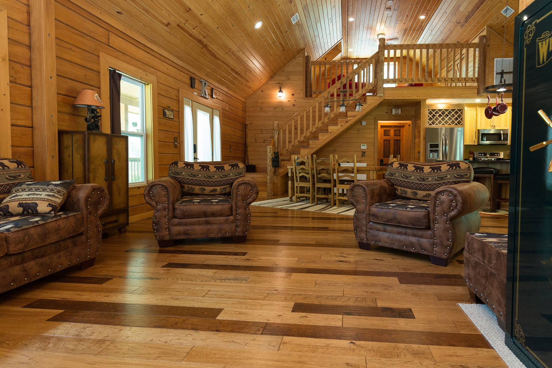 Inside of a Log home for sale in North FL