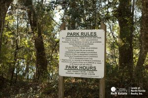 Park Rules at Charles Springs