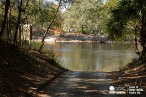 Boat Ramp at Charles Springs into the Suwannee River