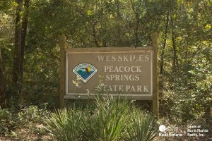 Wes Skiles - Peacock Springs state park entrance sign