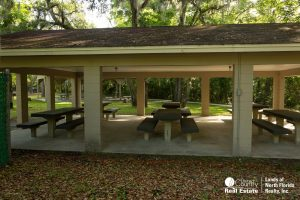 Concreted picnic shelter at Lafayette Blue Spring