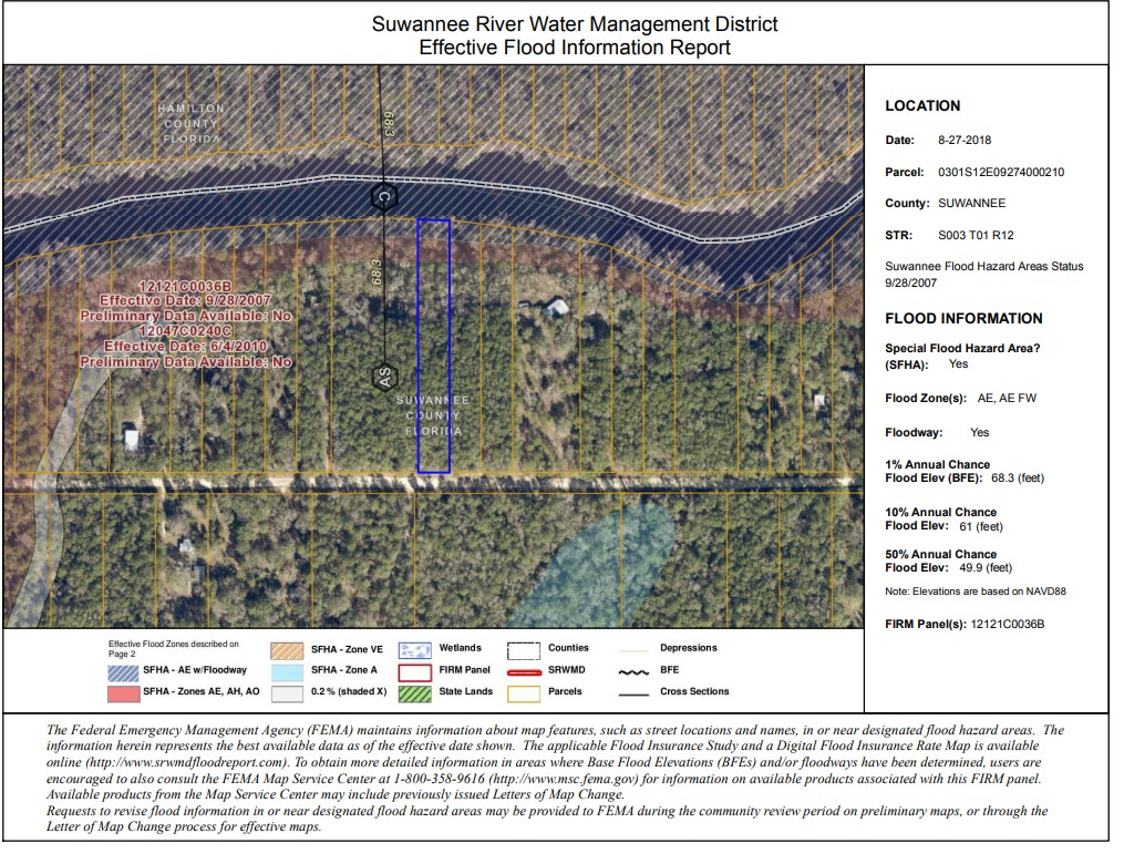 Suwannee River Water Management Flood Report Example