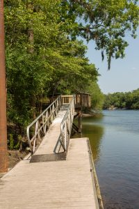 Aluminum boat dock at Troy Springs