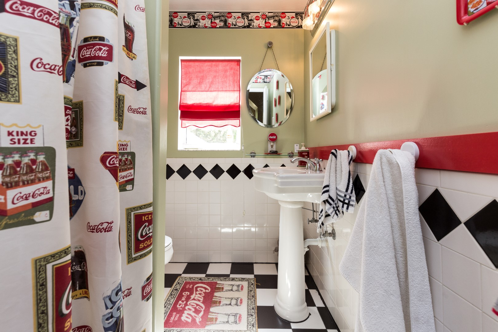Bathroom with soda theme